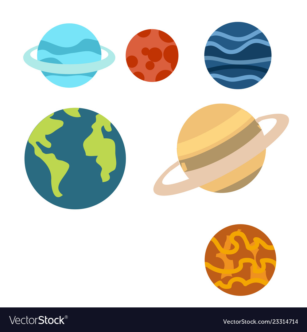 Space planets cartoon or space planets clipart.