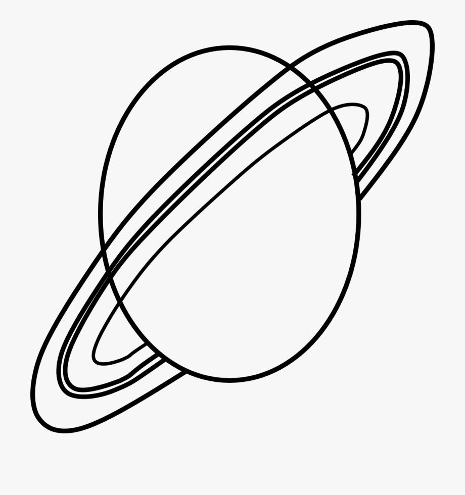 Planet Saturn Clipart Black.