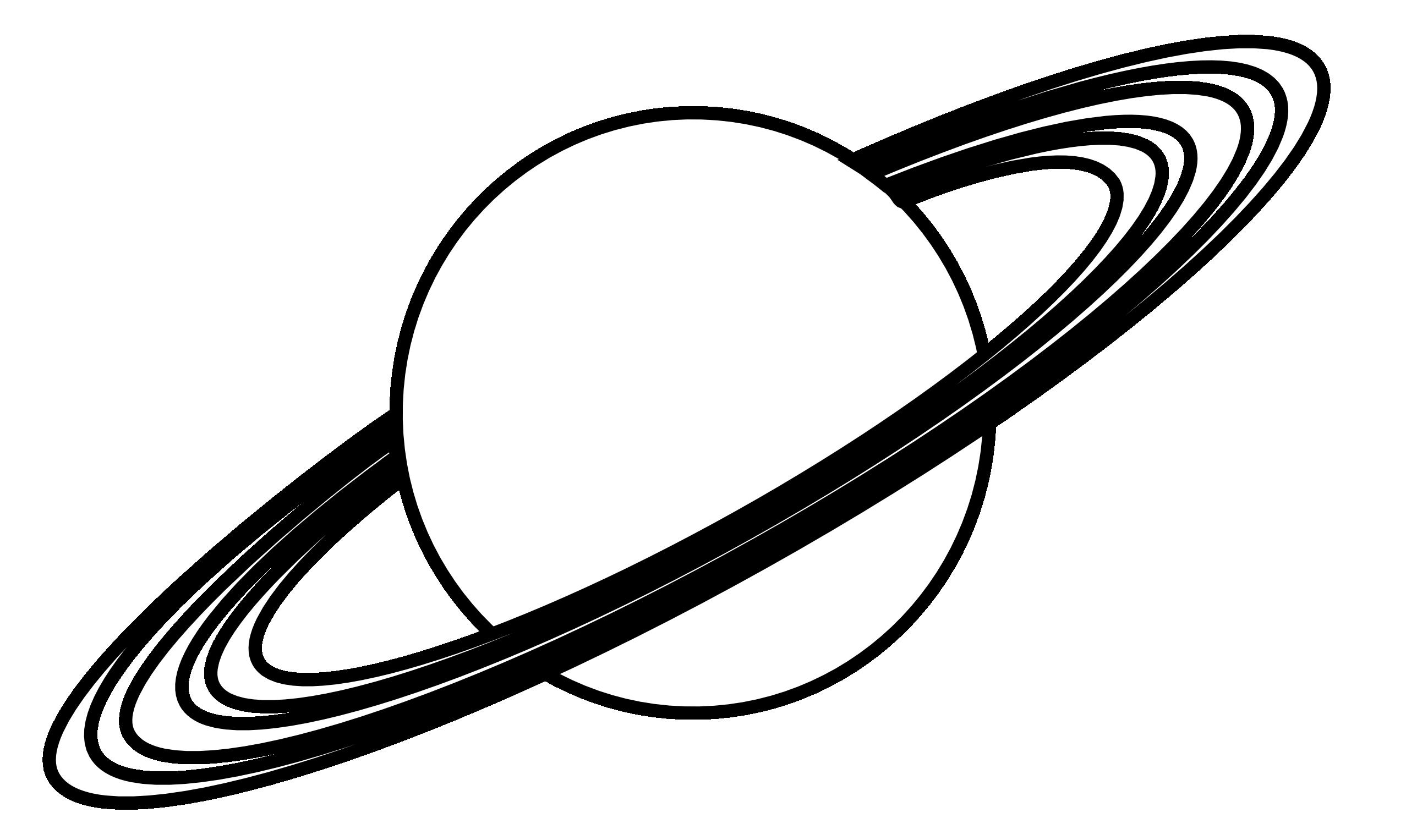 Planet Clip Art Black And White.