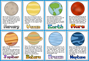 Nine Planets Clipart.