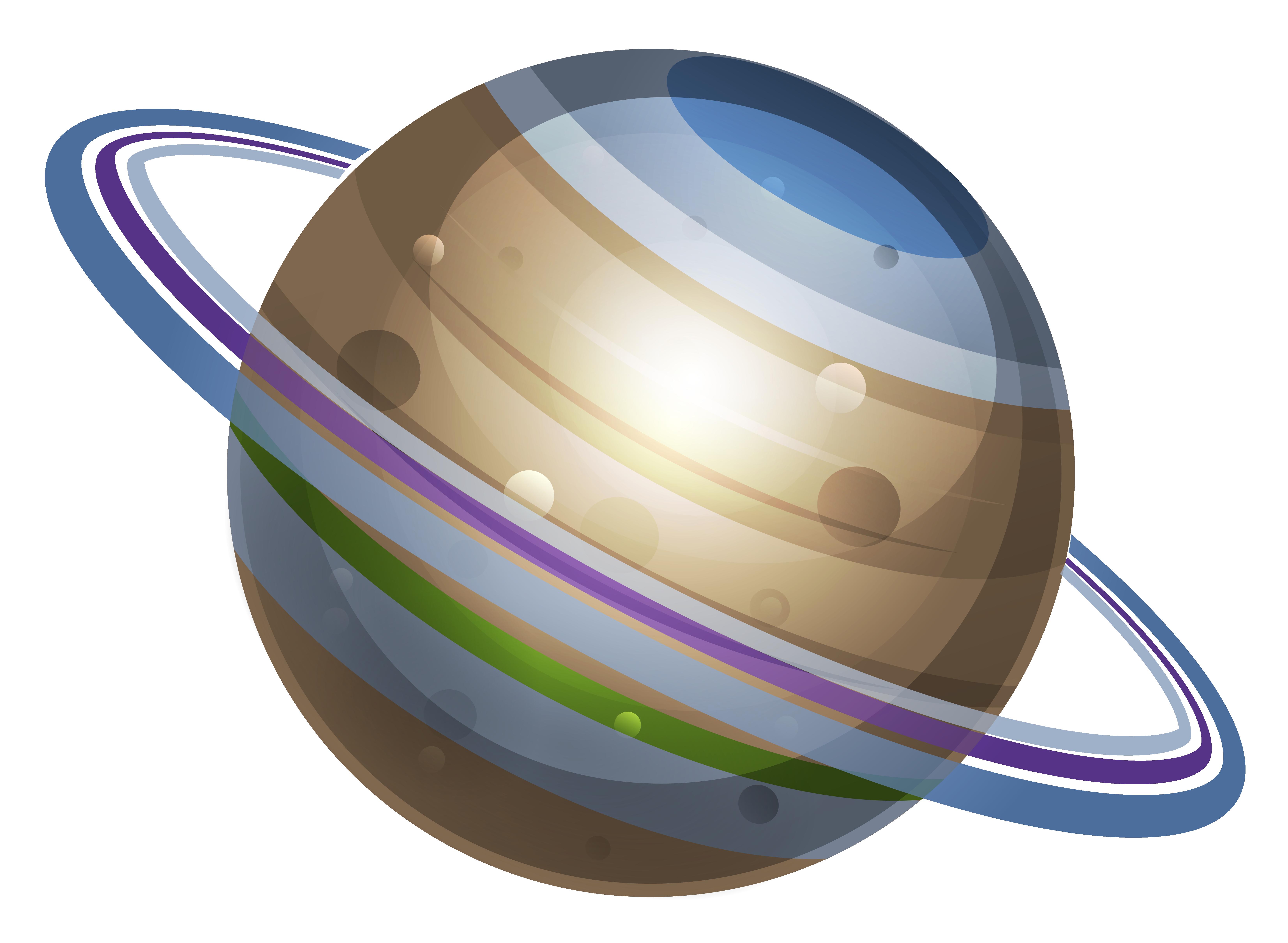 Planet School Model PNG Clipart Image.