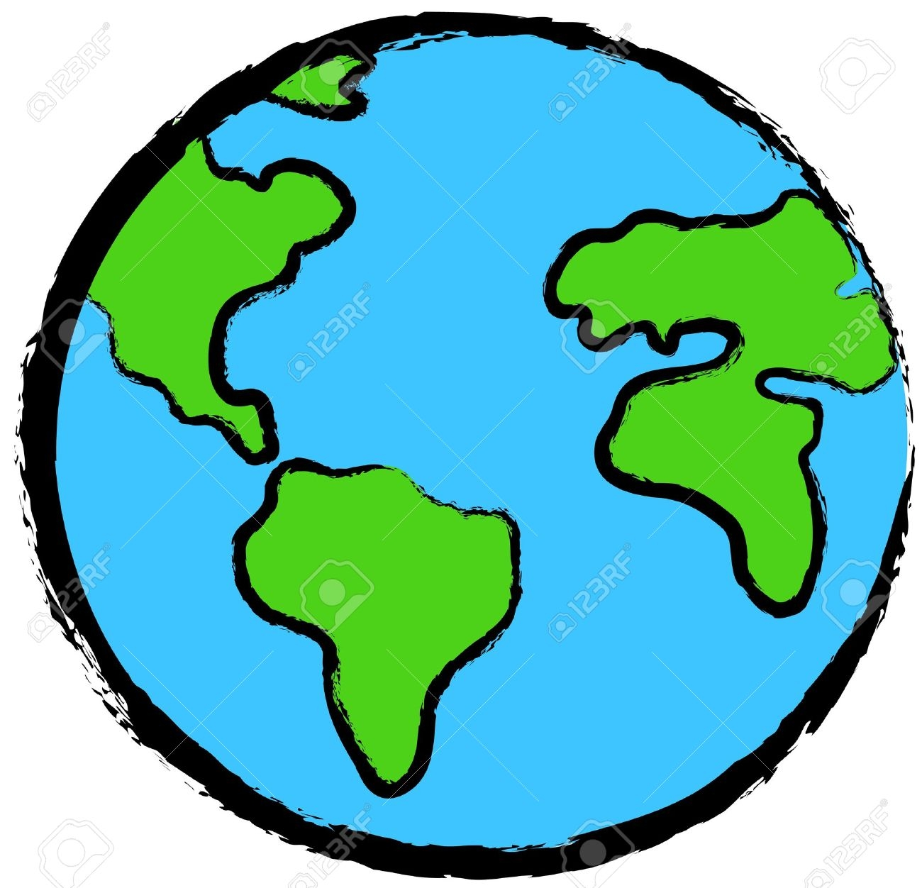 Earth clipart Luxury Planet Earth clipart art Pencil and in.