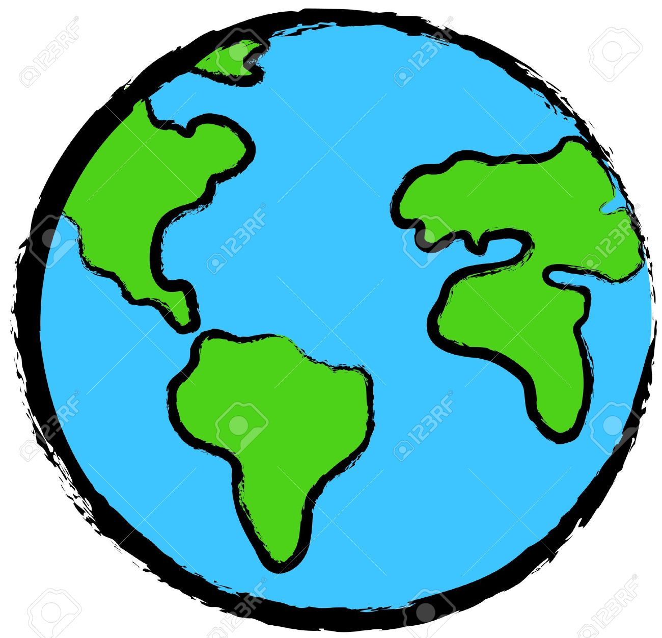 Planet earth clipart 1 » Clipart Station.