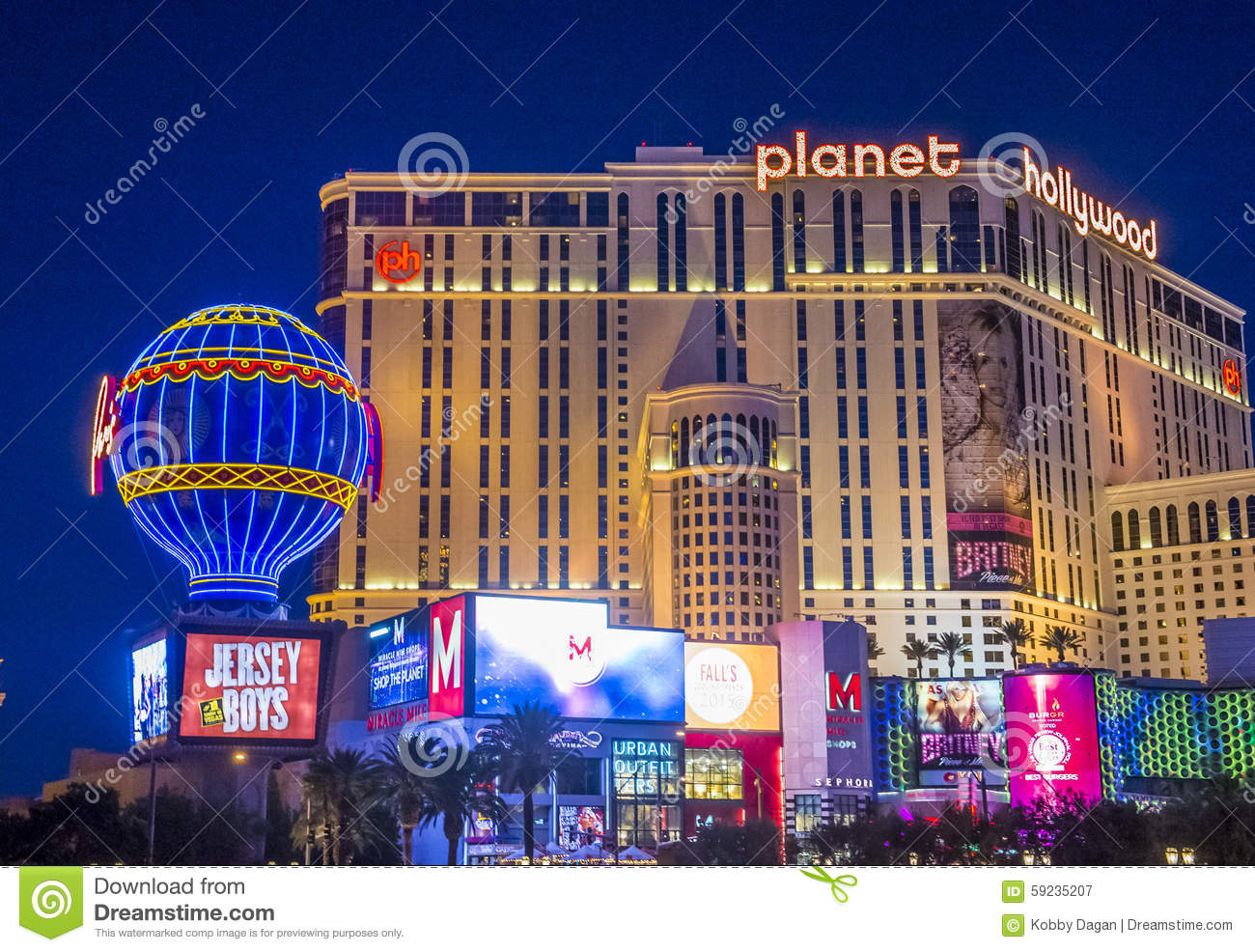 Las Vegas , Planet Hollywood Editorial Photography.