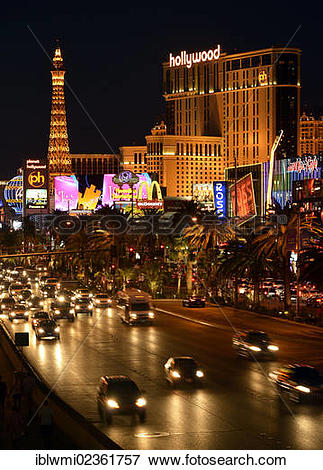 "Picture of ""Night scene, The Strip, Paris Luxury Hotel, Planet."