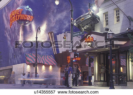 Picture of Atlanta, GA, Georgia, Planet Hollywood, Hard Rock CafT.
