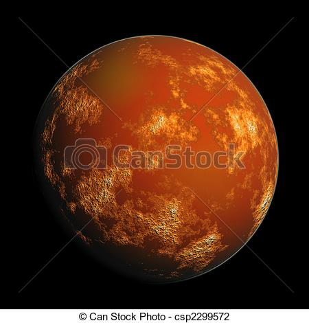 Clip Art of planet Mars.