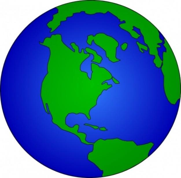 Earth Globe clip art.