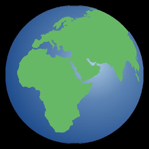 Ilustração do planeta Terra.