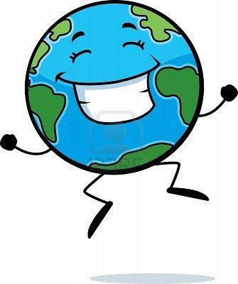 el planeta tierra animado.
