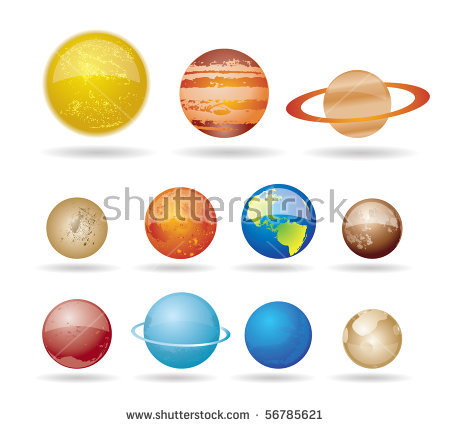 Solar System Stock Images, Royalty.
