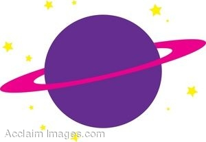 Clipart Illustration of the Planet Saturn.