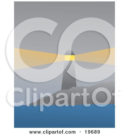 Clipart Planet Earth With A Sailboat On One Side And A Lighthouse.