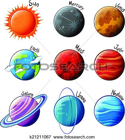 Clipart of Solar System k22310674.