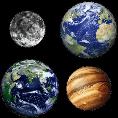 Planetas imagen PNG transparente.