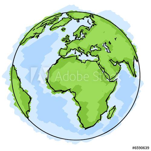 Planète terre dessin.