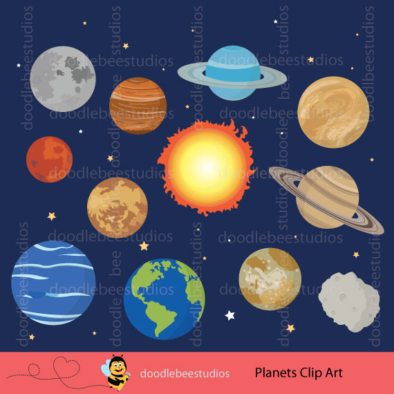 Planets Clipart.