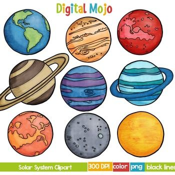 The Planets Clipart.