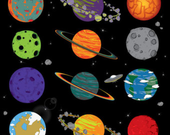 Planets In Order Clipart.