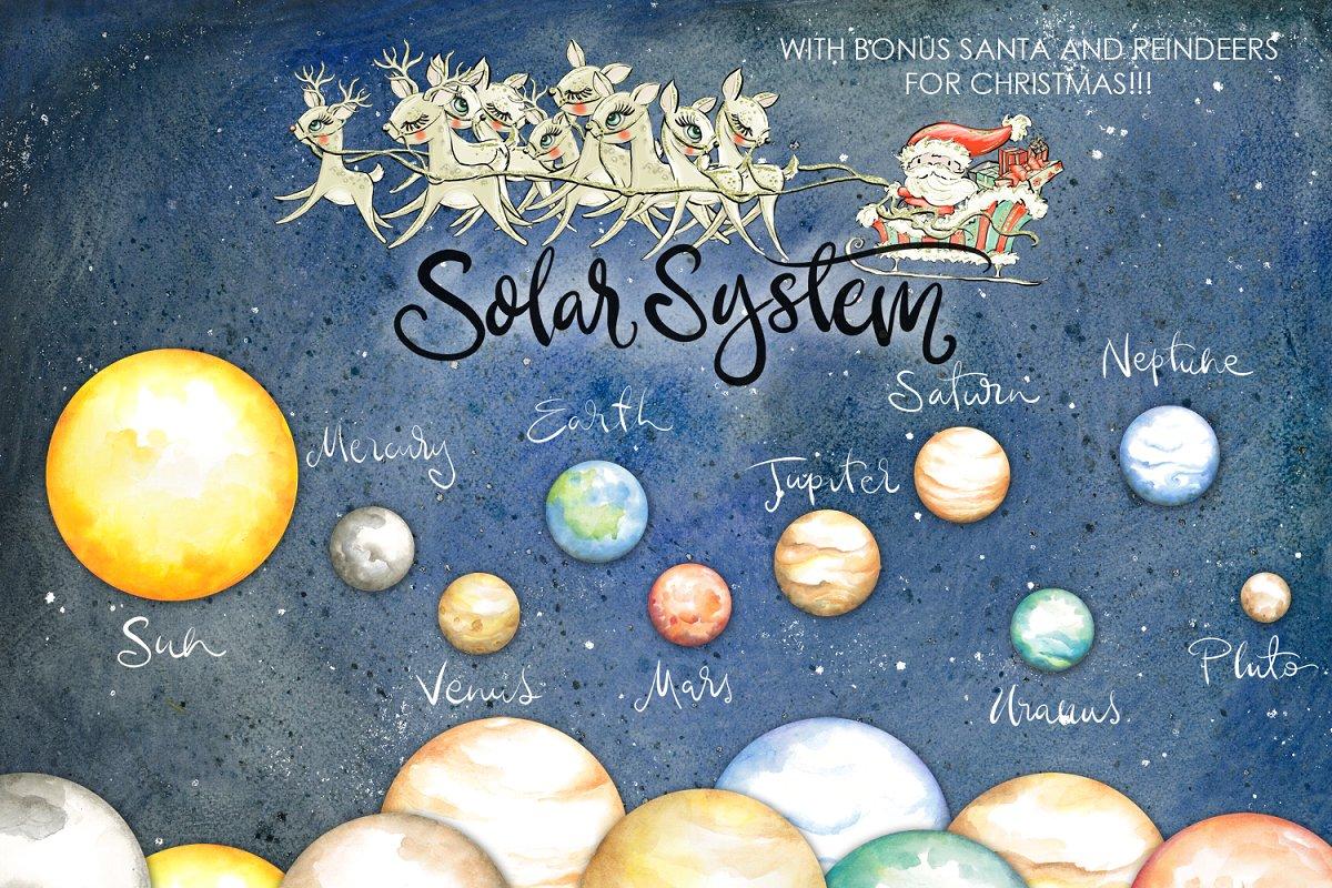 Planets Clipart Watercolor ~ Illustrations ~ Creative Market.