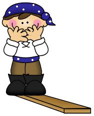 Walking The Plank Clipart.