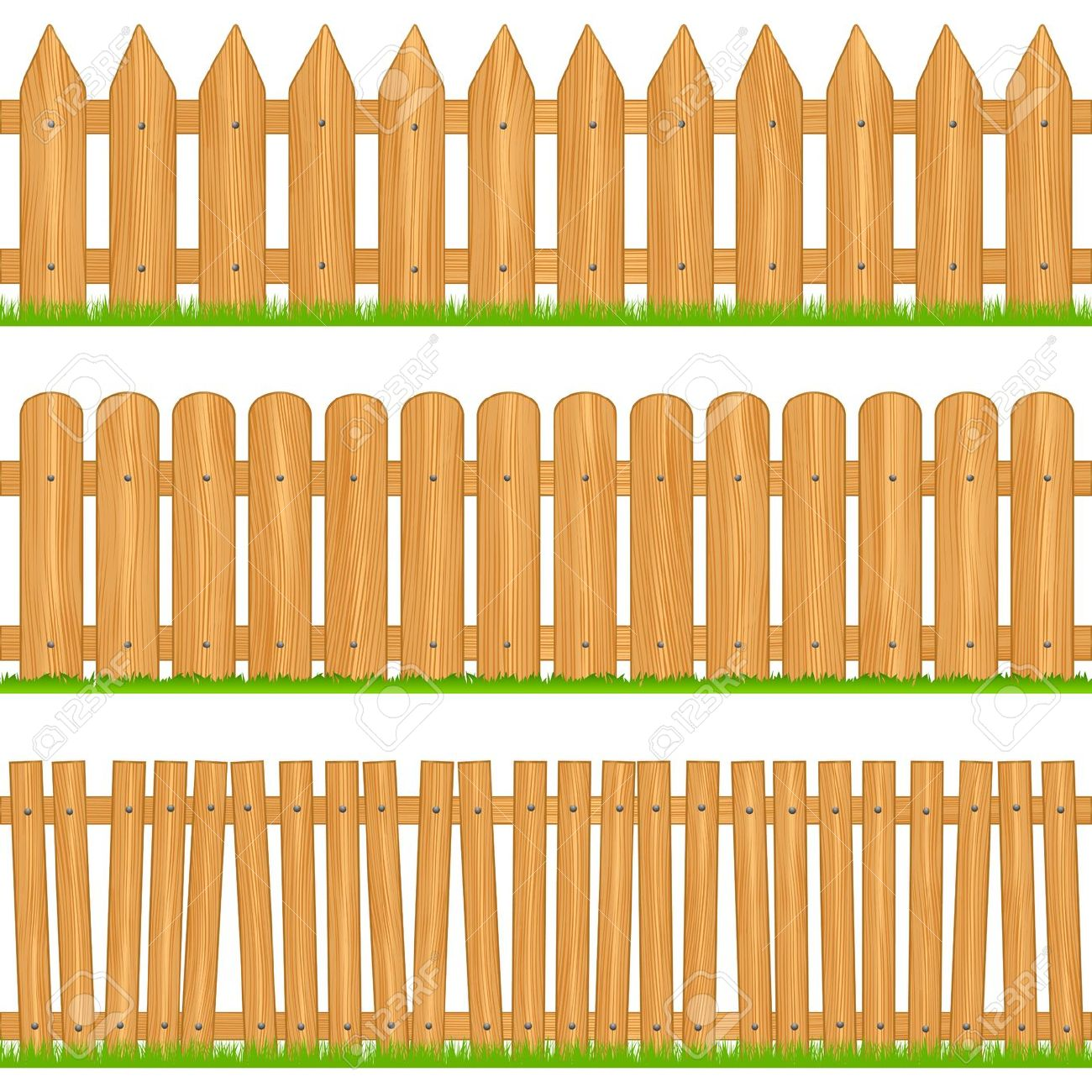 Wooden Fences Royalty Free Cliparts, Vectors, And Stock.
