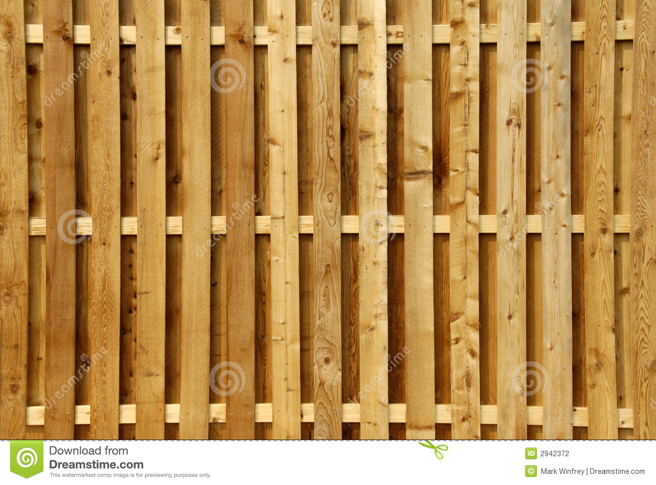 Wood Privacy Fence Stock Photography.