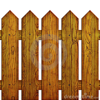 Seamless Picket Fence Cutout Stock Image.