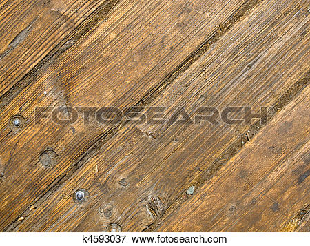 Picture of Old and Weathered Wooden Plank Floor Boards k4593037.