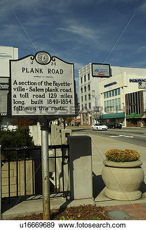 Stock Photograph of High Point, NC, North Carolina, The Plank Road.