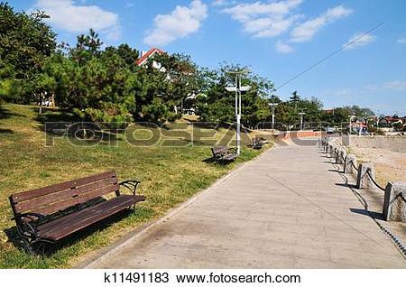 Stock Photo of Seaside Plank Road k11491183.