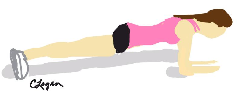 Planking Exercise Clip Art.