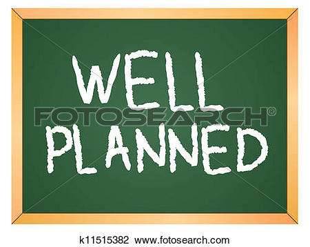 Clipart of well planned word k11515382.