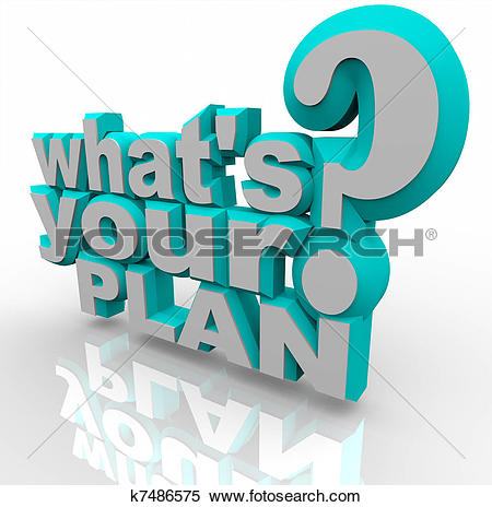 Clipart of Plan Word Shows Plans Planned Planning And Aims.