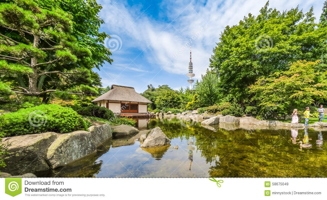 Japanese Garden (Planten Un Blomen Park) With Heinrich.