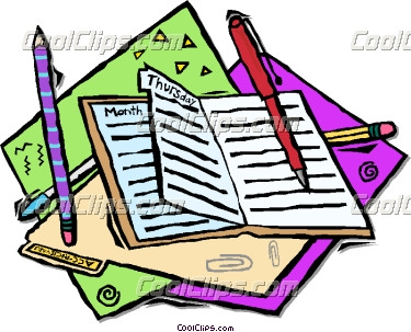 Collection of Planner clipart.