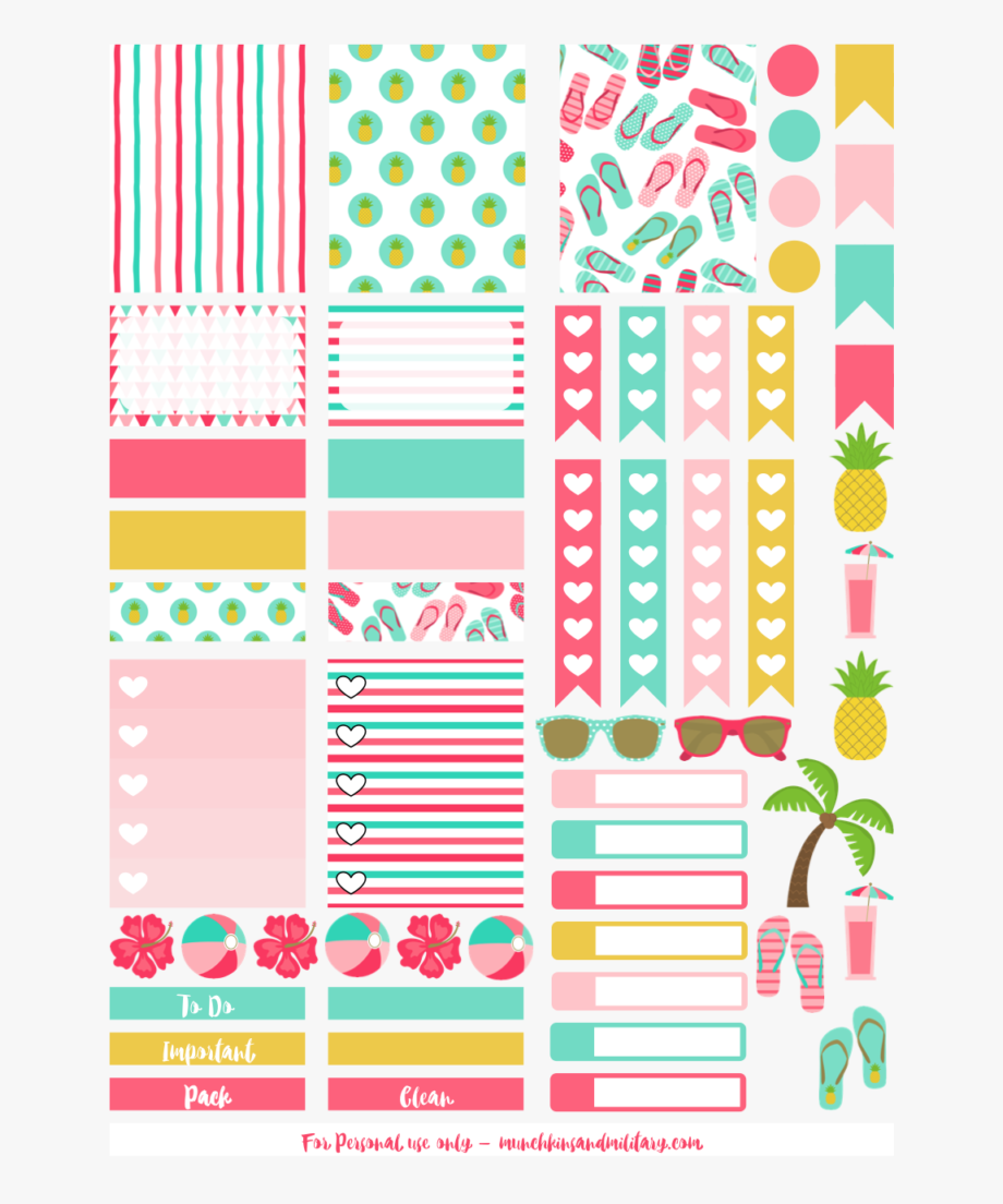 Image Stock Planner Clipart Sticker.