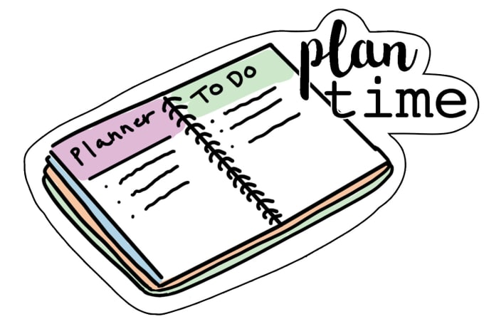 draw a planner sticker clipart for you.