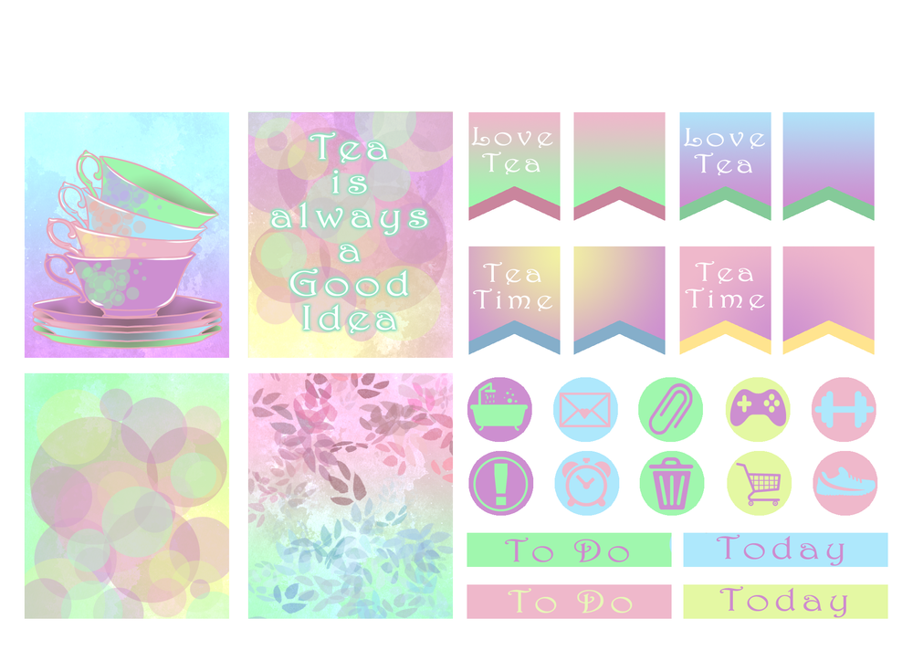 Pastel Dreams Planner Stickers.