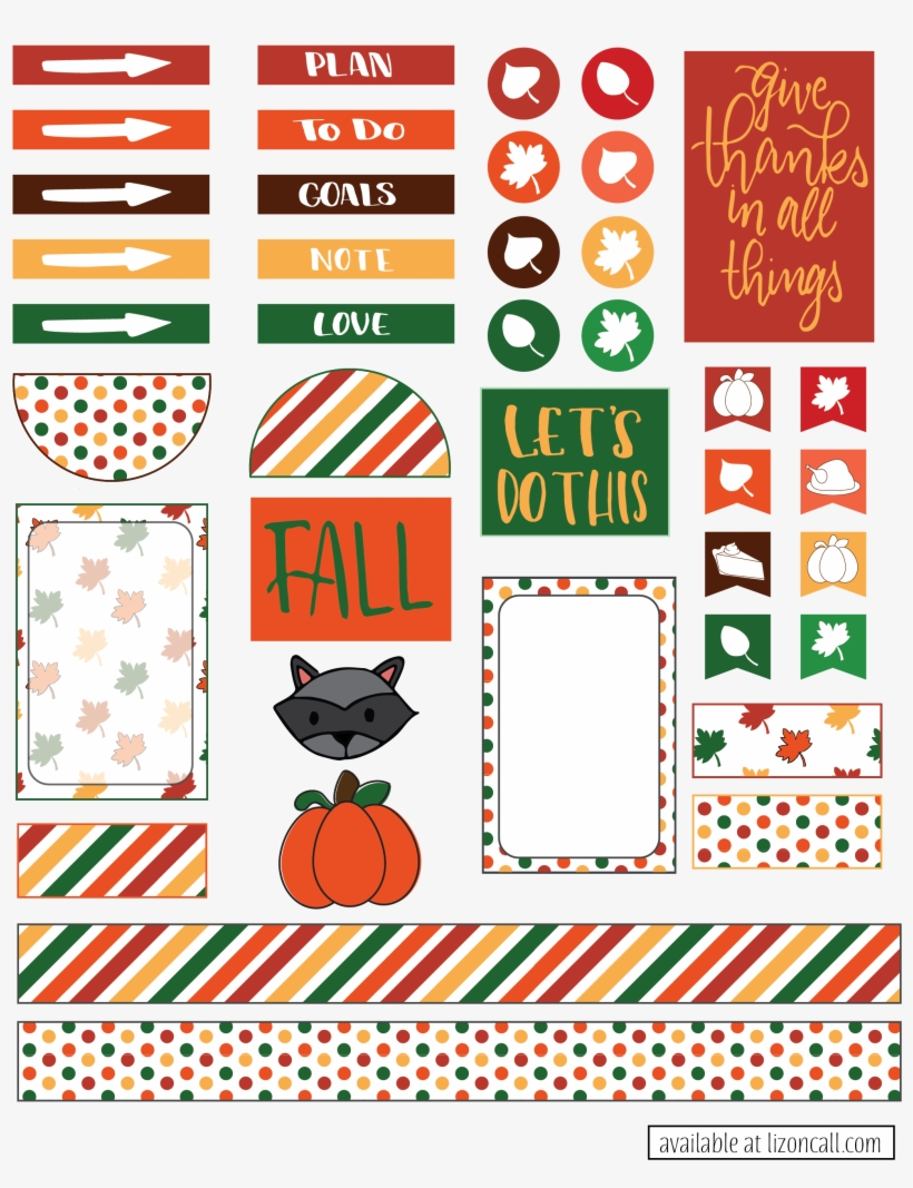 Fall Planner Stickers.