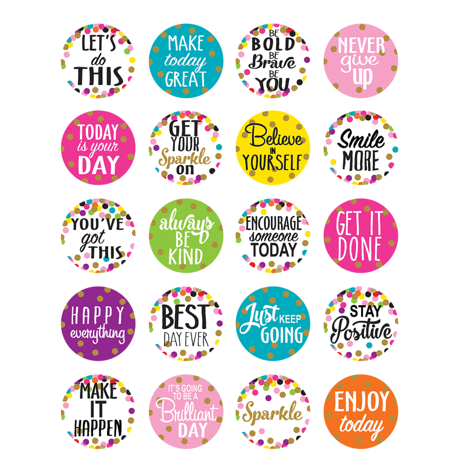 Confetti Words to Inspire Planner Stickers.