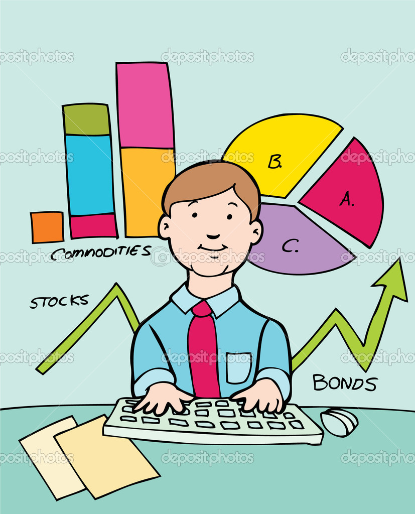 Financial planning clipart.