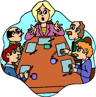 Church planning meeting clipart.