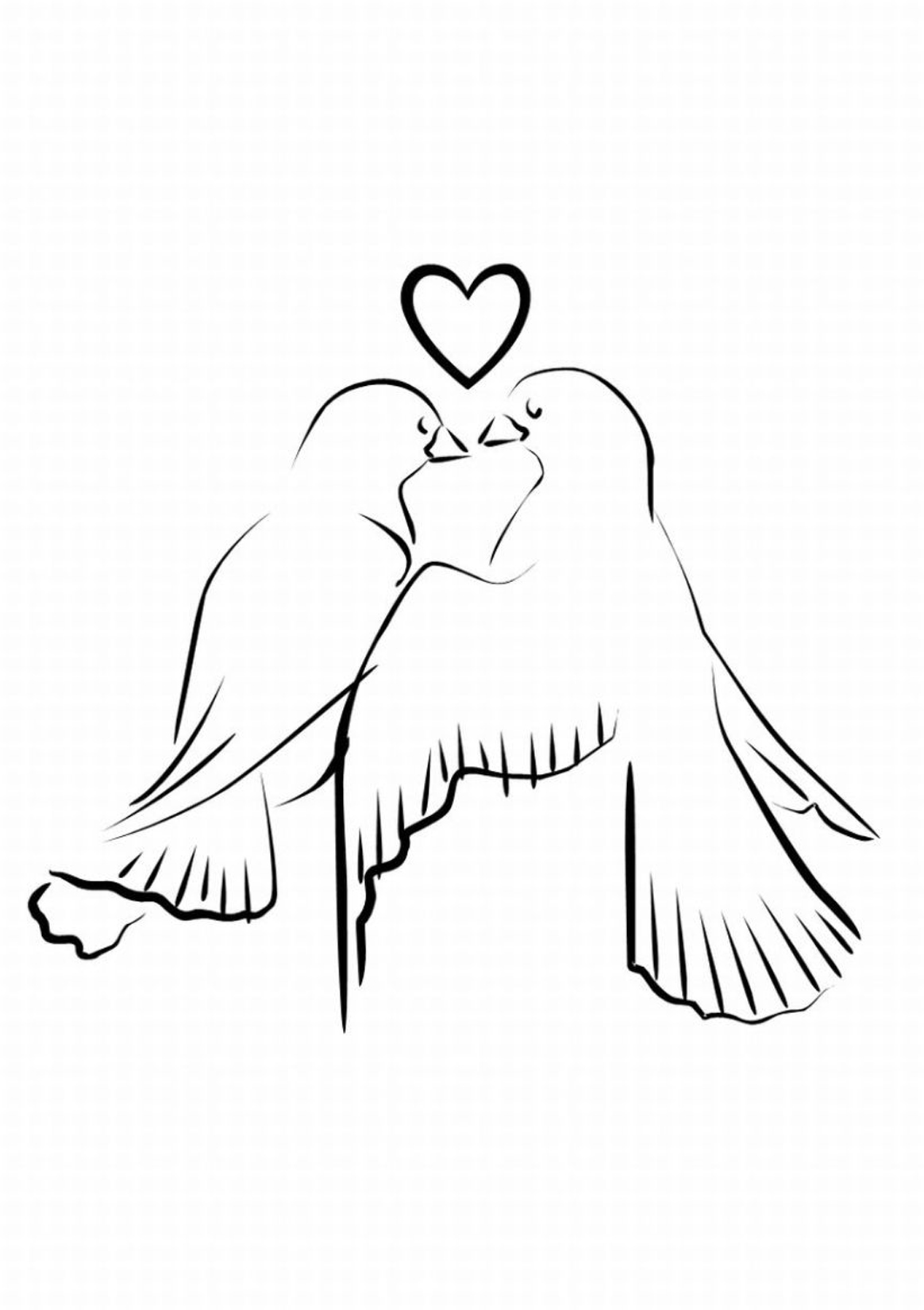 Love Doves Free Clipart.