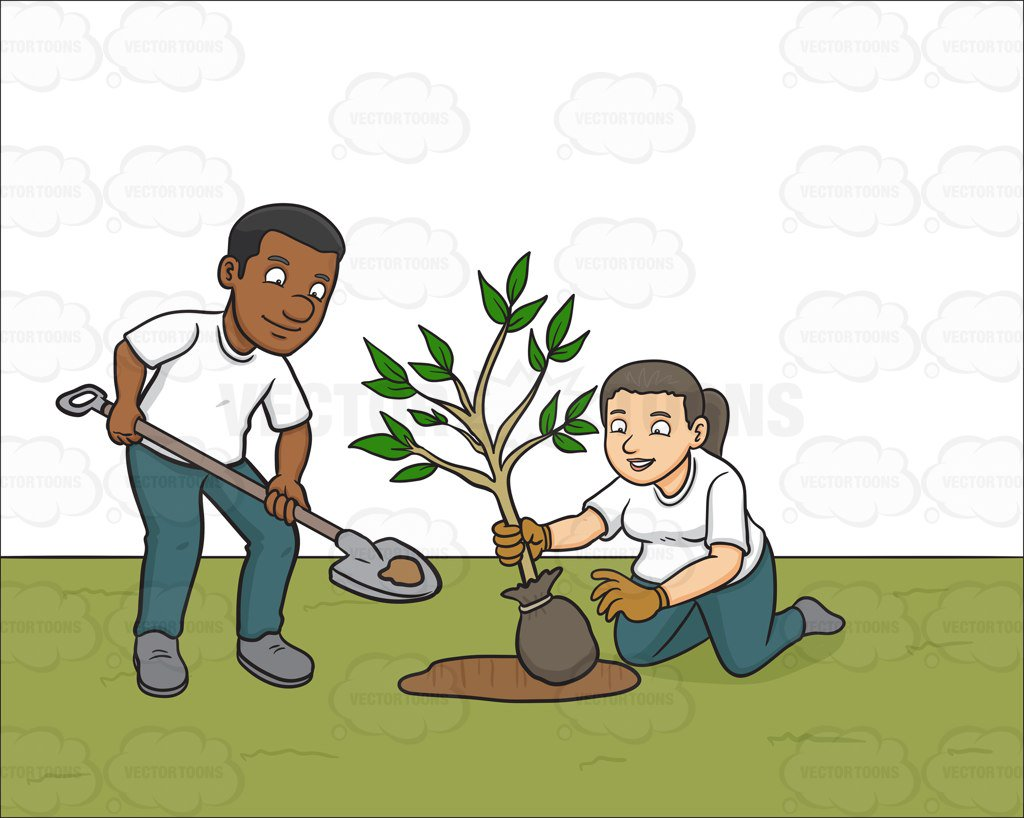 Planting trees clipart 6 » Clipart Station.