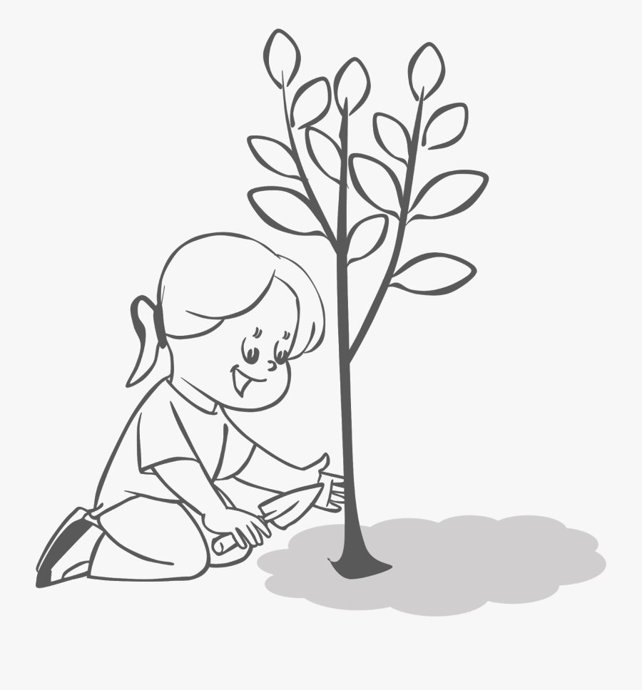 Planting Trees Clipart.
