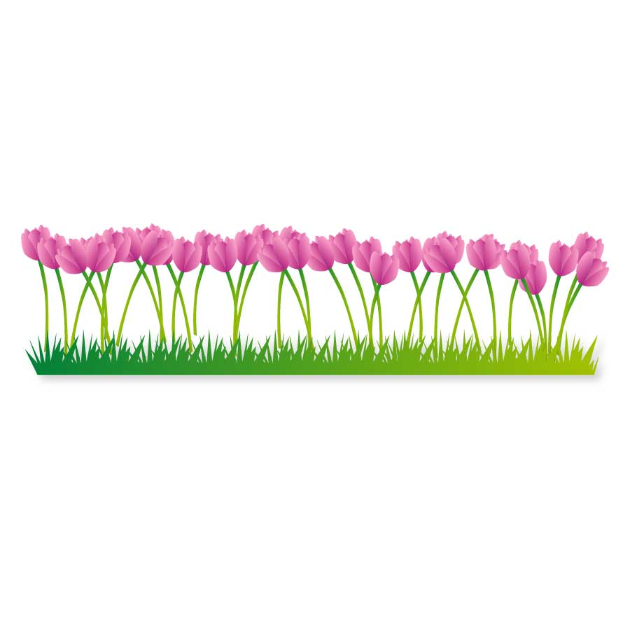 Tulip bed clipart 20 f...Clipart Flowers And Butterflies Border