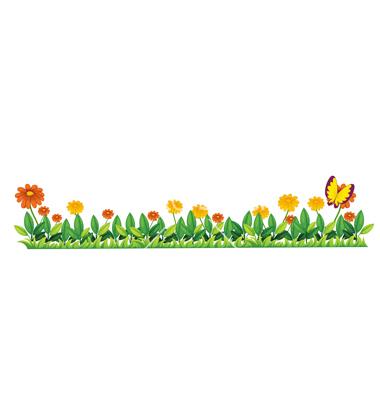 Flower bed vector by iimages.