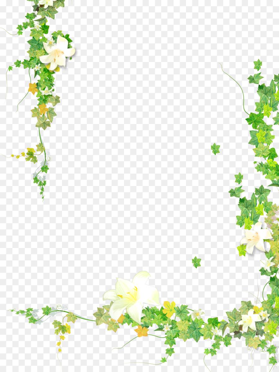 Floral Border Design clipart.