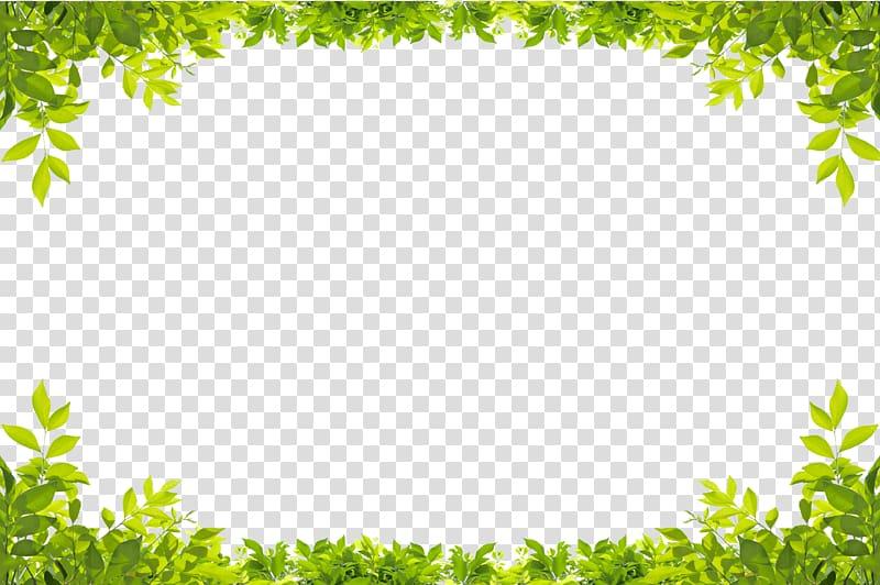 Leaf Green , Green leaves border, low.